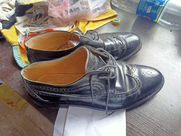 Повні Броги, оксфорди взуття Vero Cuoio Navy Boot Swiss made 48.5/49