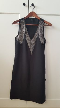 Mała czarna sukienka 34 /36 retro