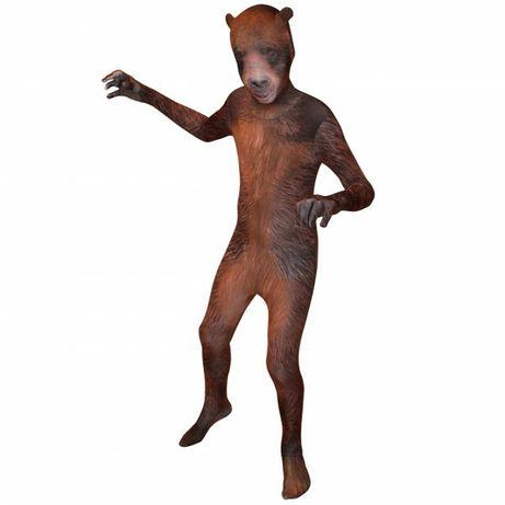Карнавальный костюм медведь, вторая кожа 9-10 лет