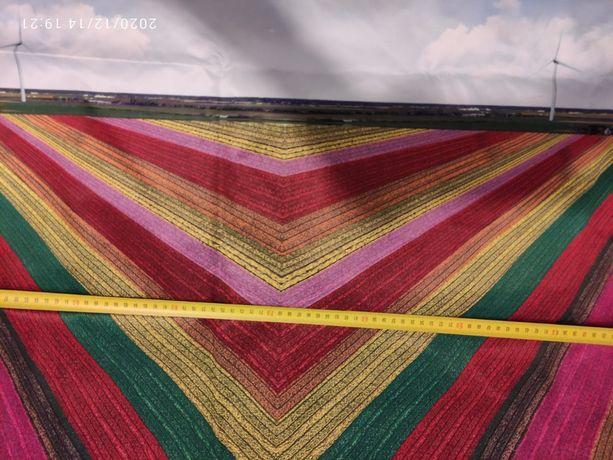 tkanina materiał przeciwdeszczowy obraz pole kwiaty kolorowy