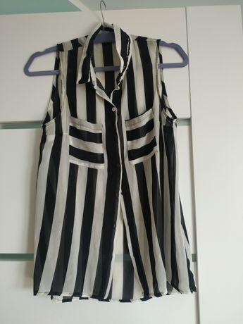 Koszula bez rękawków w paski pimkie rozmiar S
