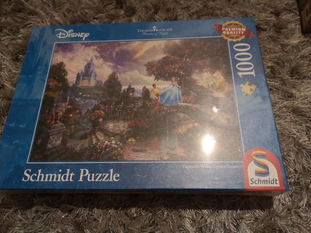 Puzzle schmidt Disney 1000 elementów Kopciuszek nowe