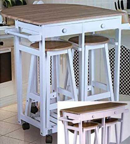 Stół składany 2 taborety ZESTAW kuchenny