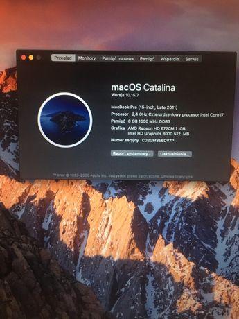 """MacBook PRO 15"""" i7 8GB 512 SSD RADEON 1GB A1286"""