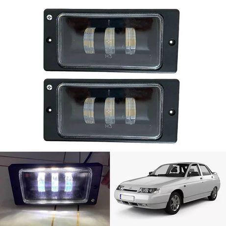 ВАЗ 2115 2111 2112 2110 светодиодные штатные LED противотуманные фары