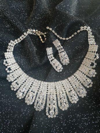 Naszyjnik i kolczyki komplet biżuterii