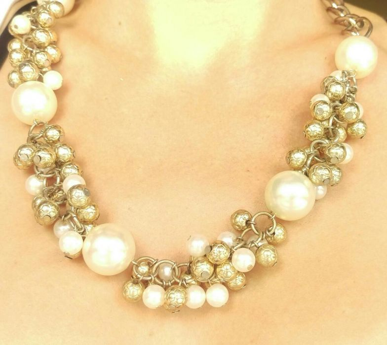 Naszyjnik złoty perły Wisznia Mała - image 1