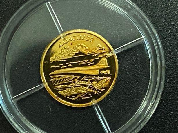 Złota moneta, żeton kolekcjonerski - History of aviation Concorde