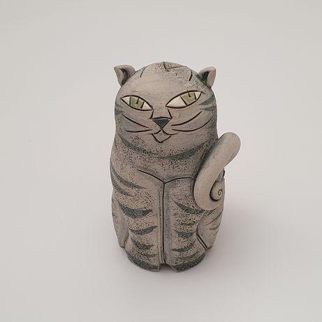 Фигурка кот глина ручная работа