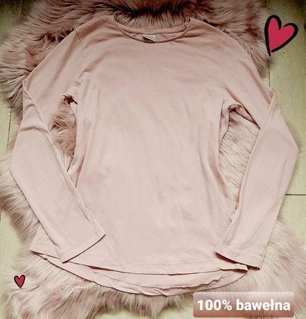 Różowa bluzka Zara z długim rękawem dla dziewczynki nastolatki bawełna