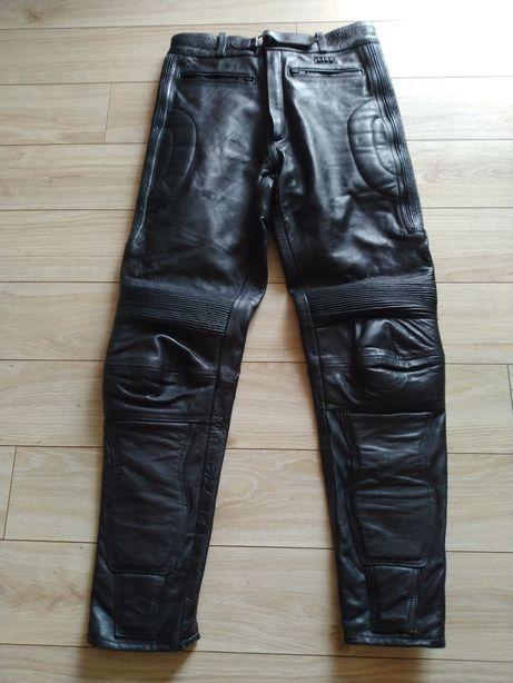Spodnie motocyklowe skórzane rozm.30