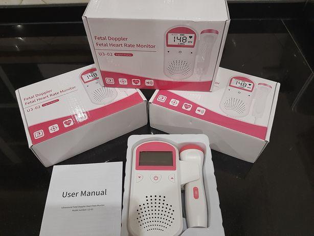Doppler fetal com ecrã  novo na caixa para ouvir coração do bebé  Dá