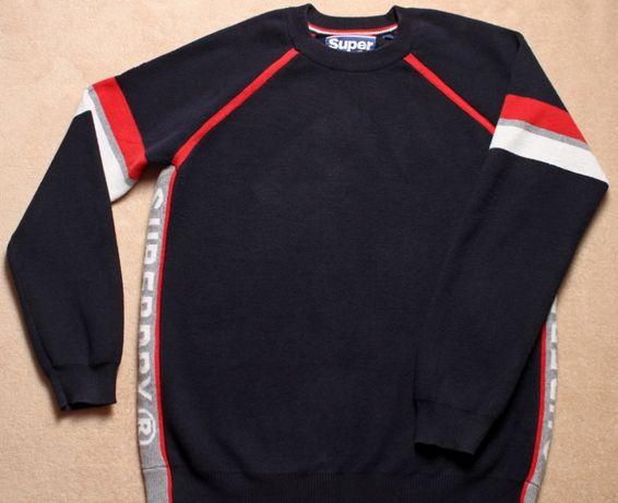 Джемпер, свитер синего цвета для подростка Superdry, р.М/ рост ≈164