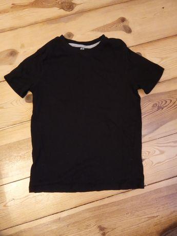 134/140 koszulka chłopięca czarna H&M jak nowa