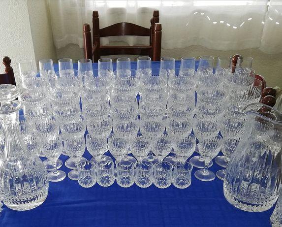 Serviço de copos de cristal Atlântis, 68 peças