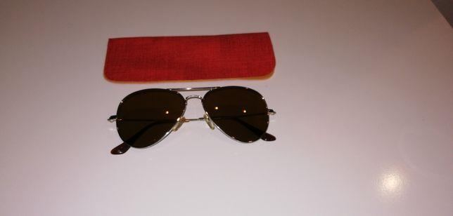 Okulary przeciwsłoneczne UV400 + etui stan idealny