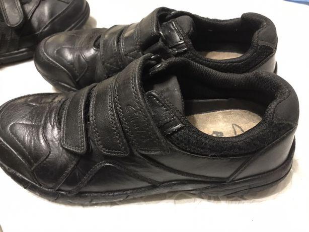 Туфли кожаные чёрные Winner 35 и Clarcs 32 размер