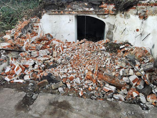 Gruz z rozbiórki garażu