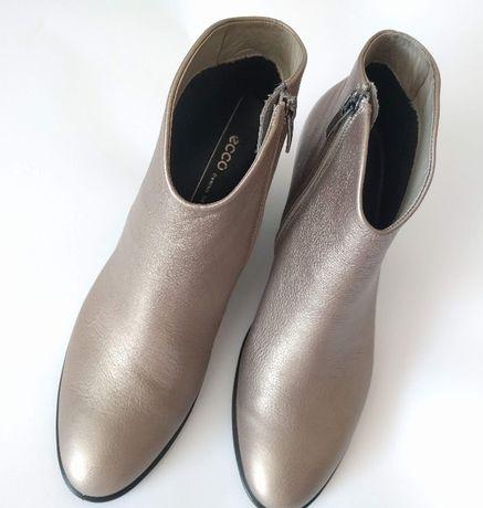 ECCO ботинки женские 40р. цвет-серебряный