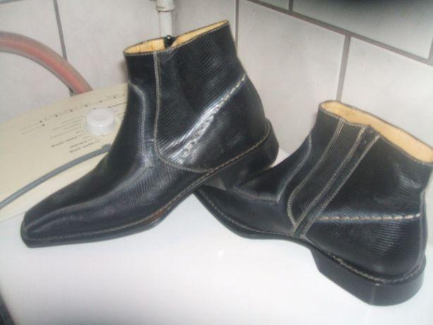 buty męskie kowbojki 40 nowe szyte dratwą !!! italy . skórzane