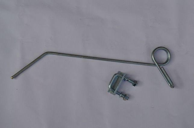 Ząb palec chwastownika fi 7 mm z mocowaniem kpl