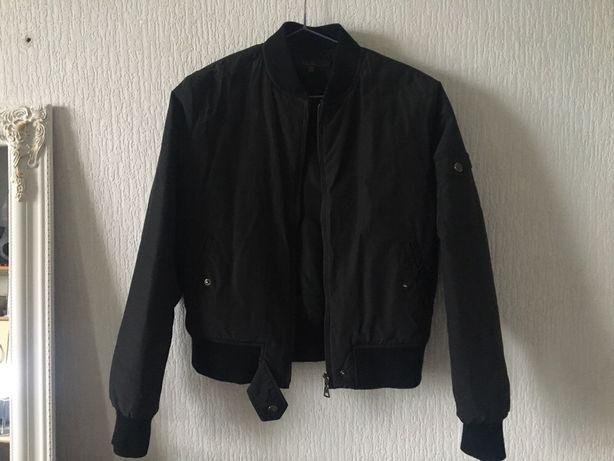Бомбер черный курточка женская осень весна