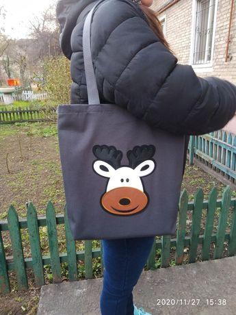 Стильная ЭКО сумка Шоппер.
