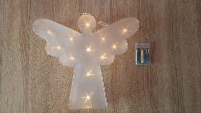 Świecący anioł, aniołek, ozdoba