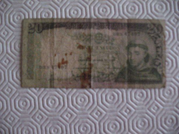 2 Notas de 20 Escudos antigas