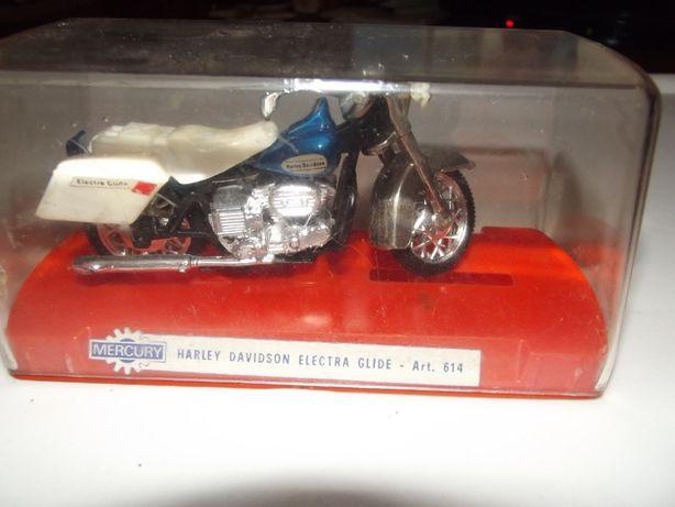 Miniatura de mota antiga Harley Davidson Electra Glide