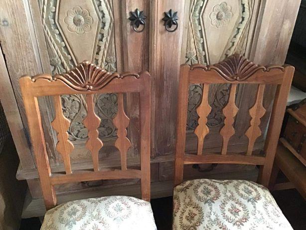 2 cadeiras, vintage, rustico, retro