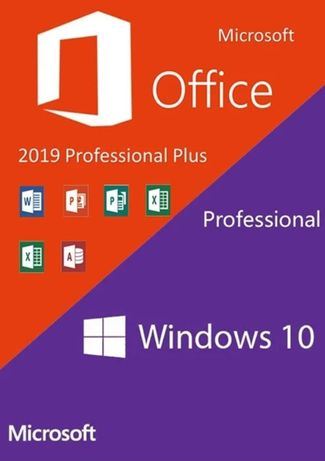 Лицензия MICROSOFT Windows 10 Home, MICROSOFT Office Home&Student 2019