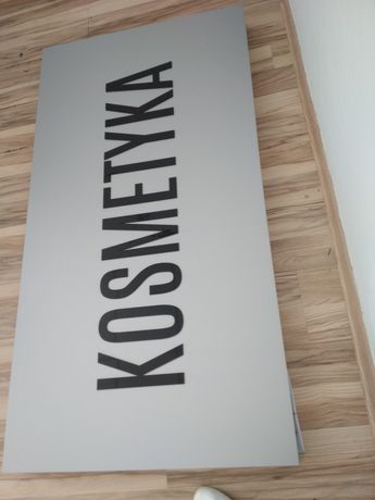 Kaseton baner reklama tablica kosmetyka fryzjerstwo napisy