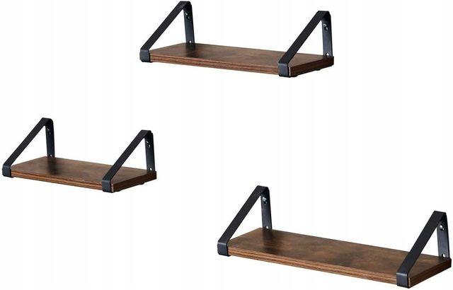Półki Ścienne 3 sztuki industrialne rustykalne (LWS33BX)