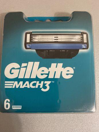 Змінні картриджі (касети) Gillette Mach 3 6 шт. Оригінал