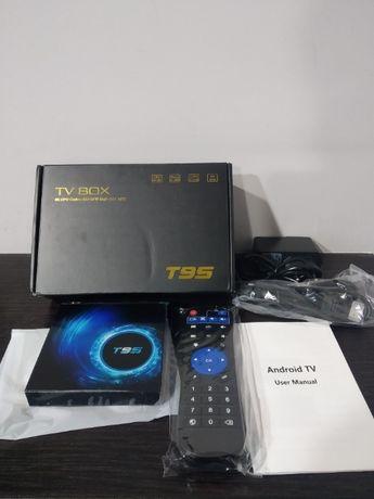 Box android T95 6K 4gb+32gb na caixa