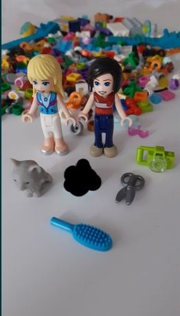 Mix klockow lego friends laleczki zwierzątko