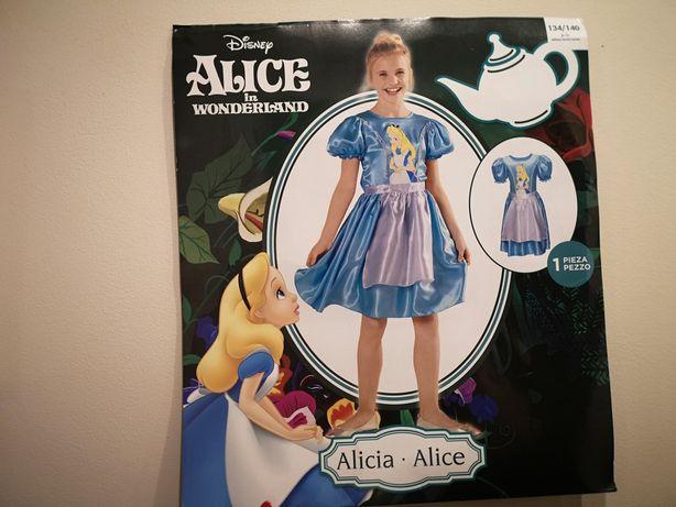 Sukienka Alicji z Krainy Czarów, Alicja, Disney roz.134-140 cm