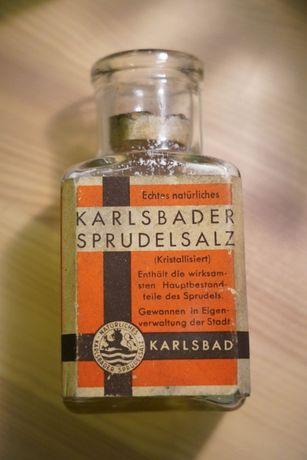 Buteleczka sól Karlsbad przedwojenna
