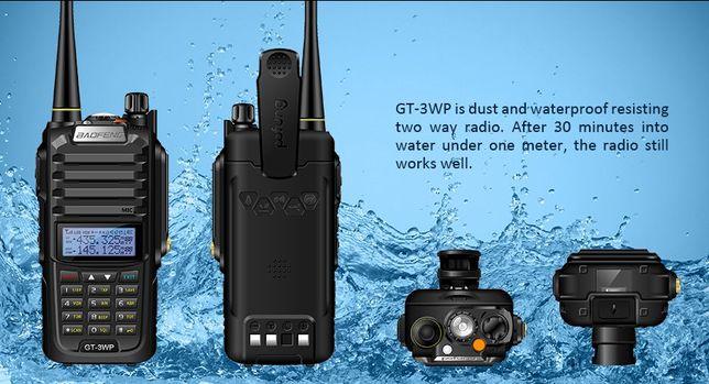 Radio Portátil VHF/UHF Totalmente Prova AGUA IP67 BAOFENG GT3WP