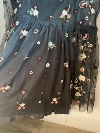 Sukienka Next Tiul haft kwiatki 116