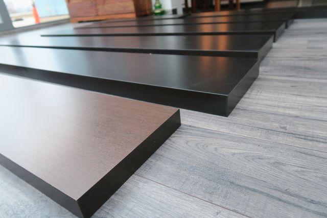 Półka IKEA LACK czarno - brązowa 190x26 80x25