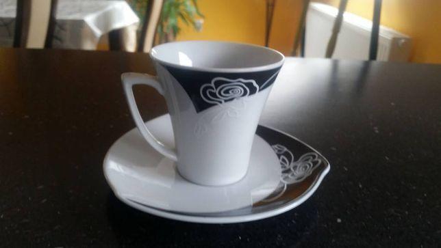 Zestaw/serwis kawowy, Ćmielów, porcelanaNOWY, nowoczesny, oryginalny,