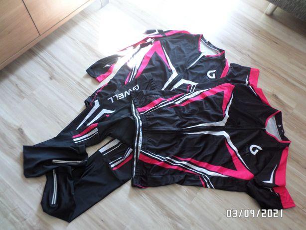 firmowy zestaw odzieży rowerowej- 3szt-GWELL
