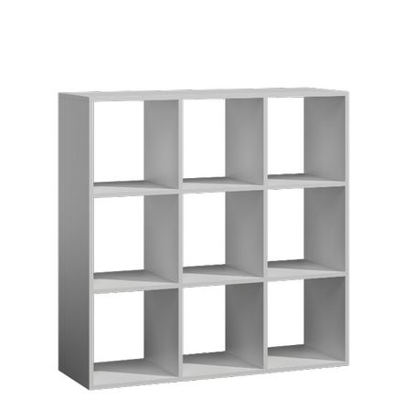 Regał do salonu KWADRO 3x3 kolory biały sonoma wenge