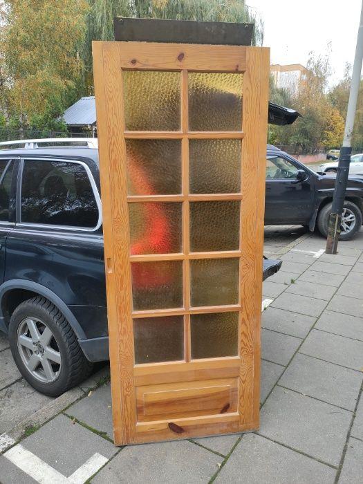 Drzwi suwane przesuwne sosnowe 80cm Łódź - image 1
