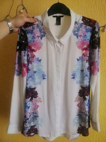 Блузка hm, легкая светлая рубашка женская bershka, белая zara,