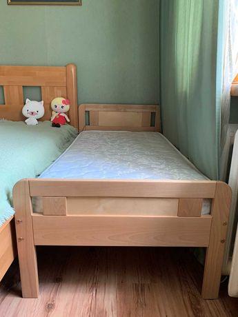 Деревянная кровать 140х70 см + матрац