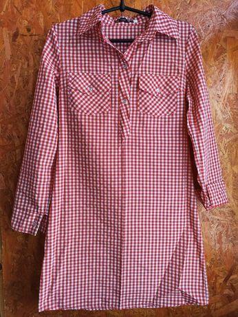 Рубашка платье красного цвета