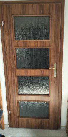 2 x skrzydło drzwiowe DRE - drzwi przylgowe 80, lewe, orzech, 80L